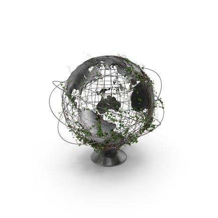 Globus mit Efeu