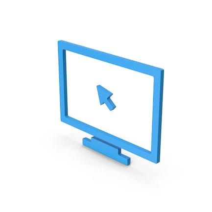 Symbol Monitor With Arrow Blue