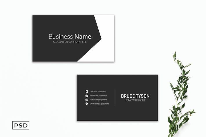Schwarze kreative minimale Visitenkarte Vorlage