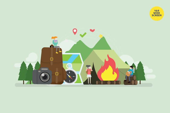 Thumbnail for Student Summer Camp Vector Concept Illustration 2