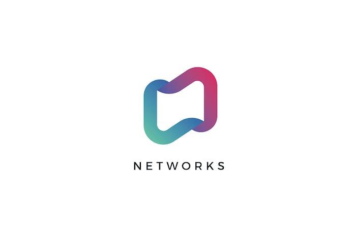 Network N Letter Logo Template