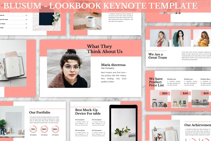 Thumbnail for Blusum - Lookbook Keynote Template