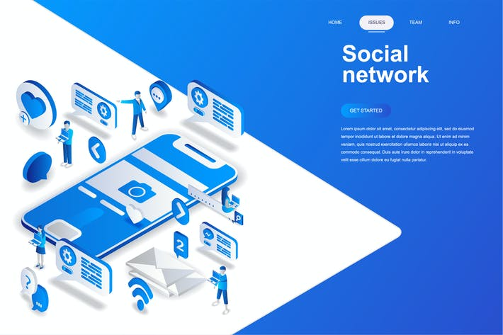 Thumbnail for Social Network Isometric Concept