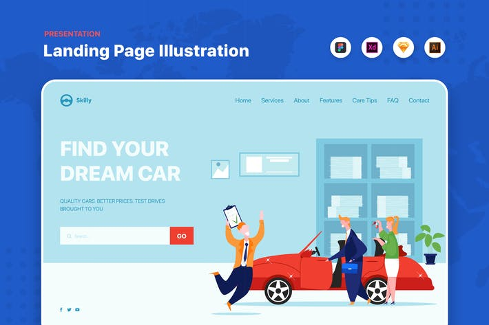 Car loan approved - Website Header Template