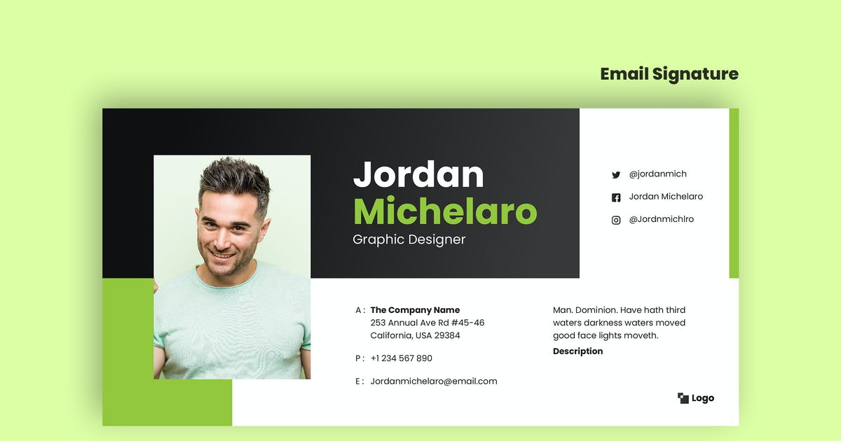 Download Email Signature Template V.29 by Neermana