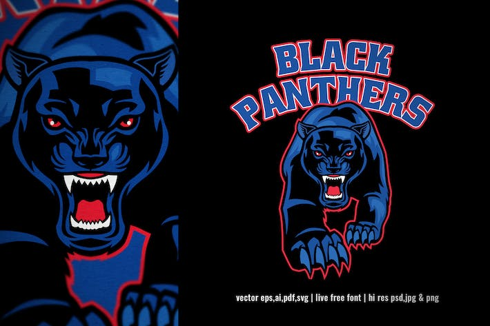 Thumbnail for crawling black panther for sport and esport logo