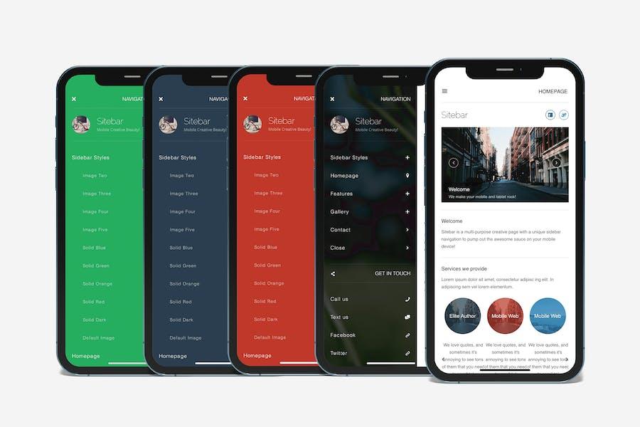 Sitebar | Mobile Website Template