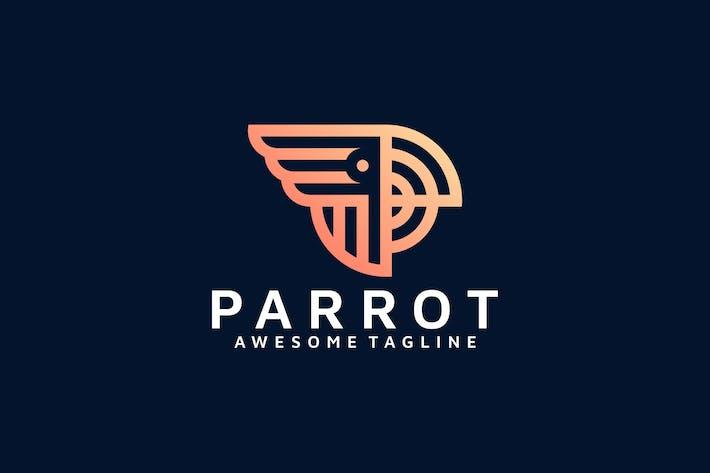 Thumbnail for PARROT LINE ART LOGO TEMPLATE