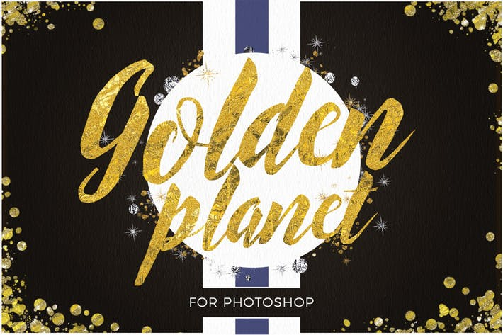 Thumbnail for Golden Planet for Photoshop