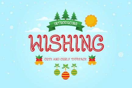 Wishing - Curly Decorative Christmas Font
