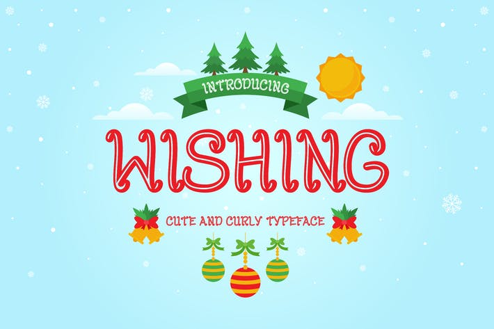 Thumbnail for Wishing - Curly Decorative Christmas Font