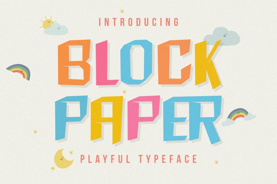 DS Block Paper – Playful Typeface