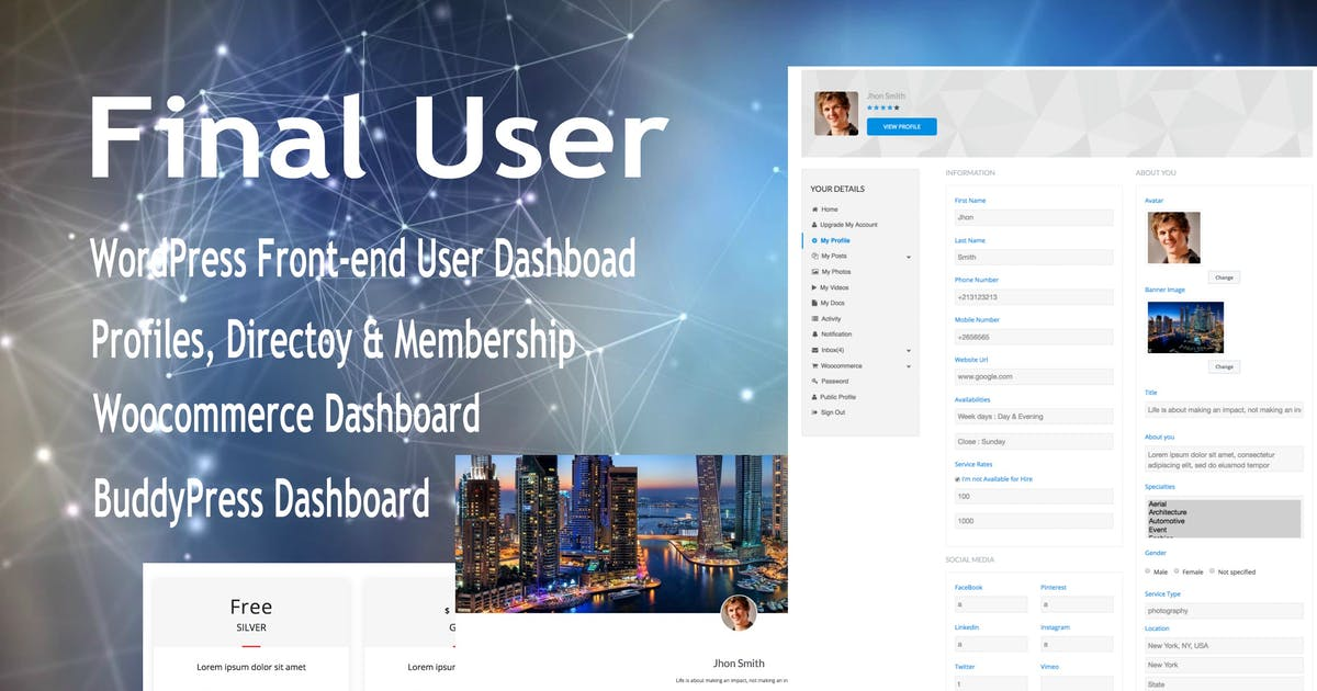 Download Final User - WP Front-end User Profiles by e-plugins