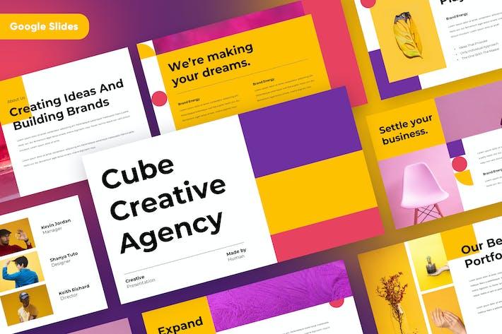 CUBE - Creative Geometric Google Slides Template