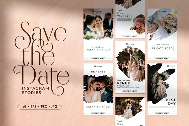Save The Date Instagram Stories