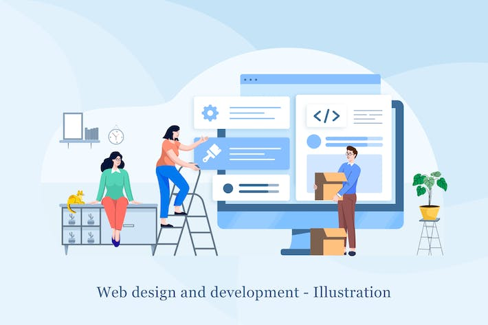 Thumbnail for Web design and development Illustration