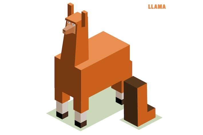 Thumbnail for L für Lama Tier Alphabet