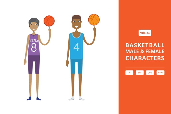 Thumbnail for Basketball - Male & Female Characters Vol.34
