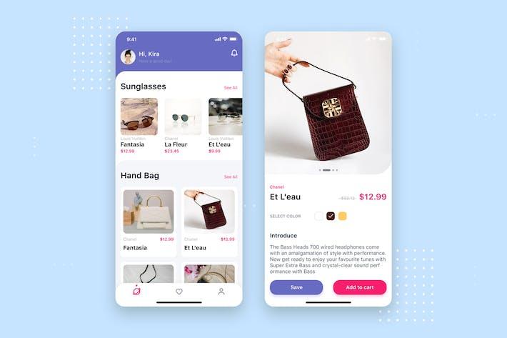 Cover Image For E-commerce App UI Concept