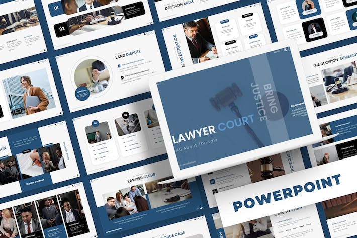 Thumbnail for Lawyer Court - Powerpoint Template