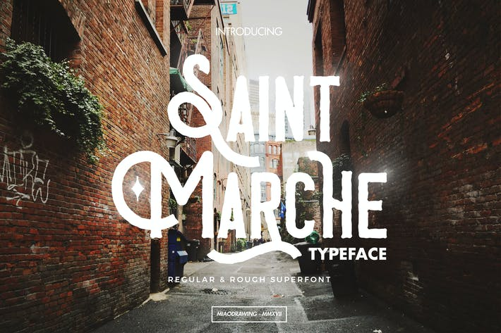 Thumbnail for Saint Marche Typeface