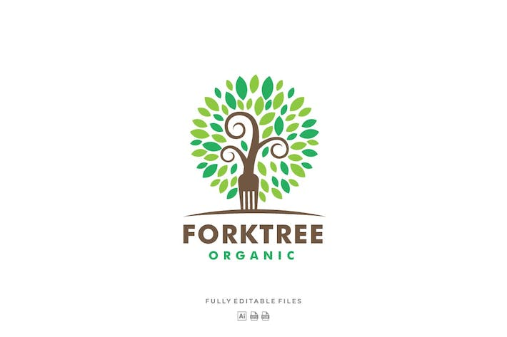 Thumbnail for Fork and Tree Color Logo