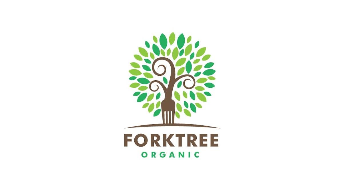 Download Fork and Tree Color Logo by ivan_artnivora