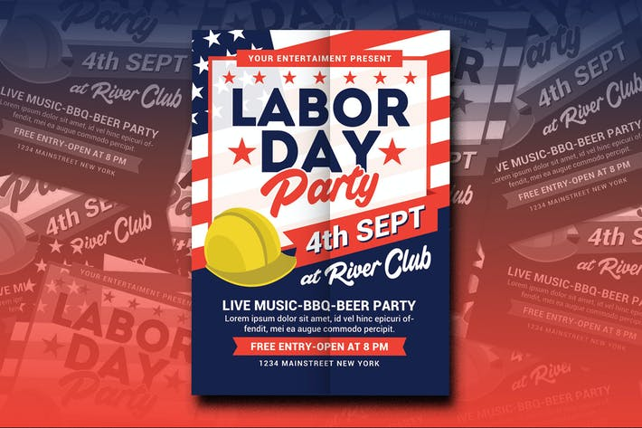 Cover Image For Labor Day Party Flyer