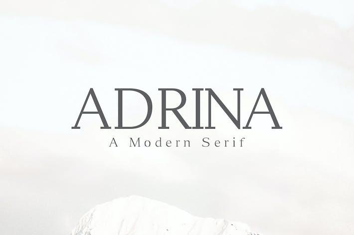 Adrina Moderno Con serifa Familia tipográfica