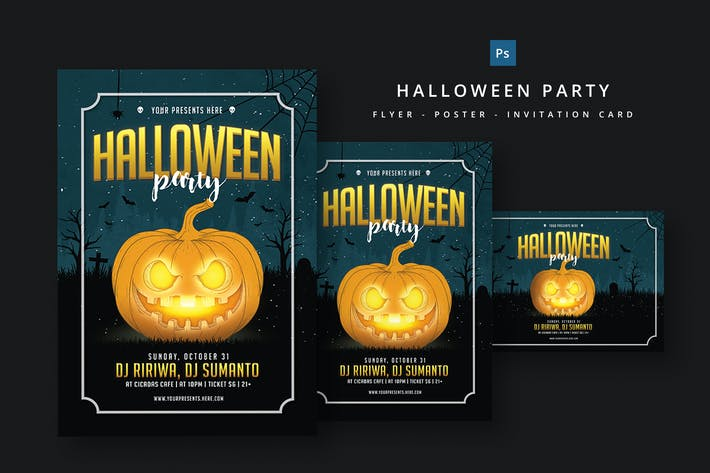 Download 65 october graphic templates envato elements thumbnail for halloween party flyer maxwellsz