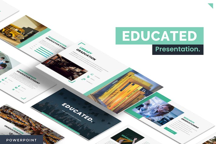 Thumbnail for Educated - Powerpoint Template