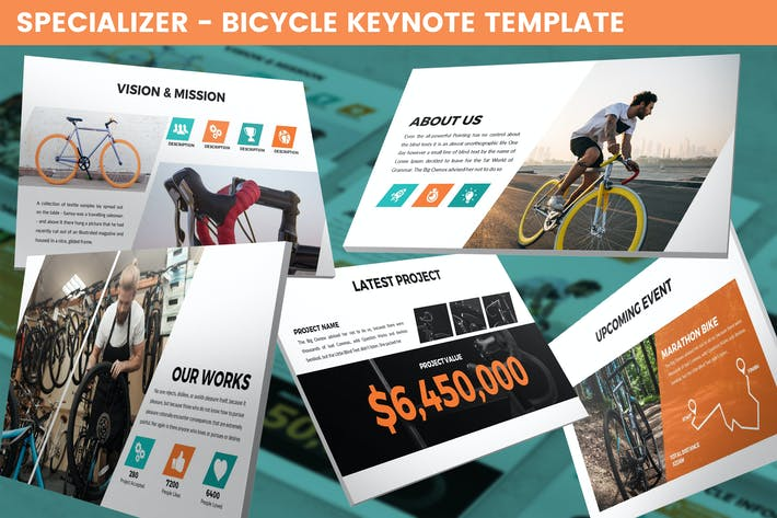 Thumbnail for Specializer - Bicycle Keynote Template