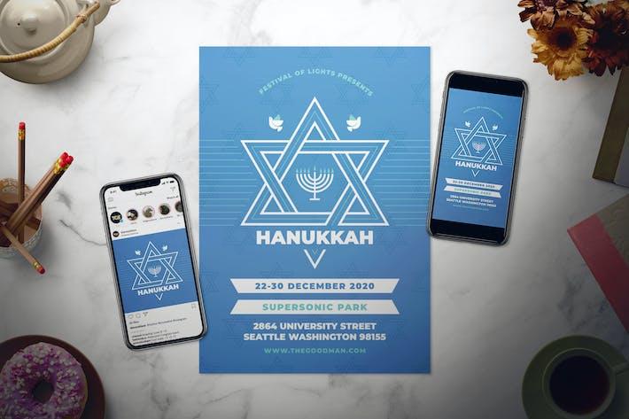 Thumbnail for Hanukkah Flyer Set