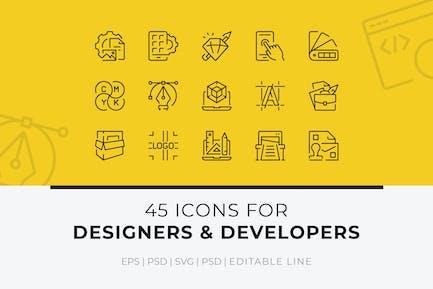 45 Icons für Designer und Entwickler