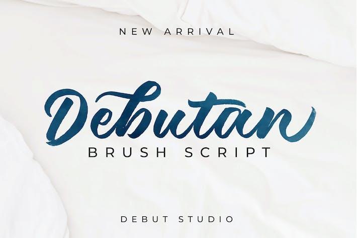 Thumbnail for Debutan Brush Script