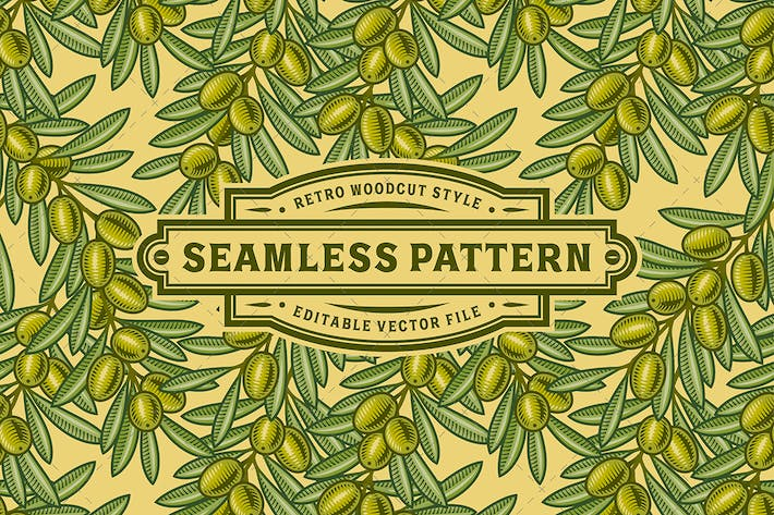 Thumbnail for Seamless Olive Pattern