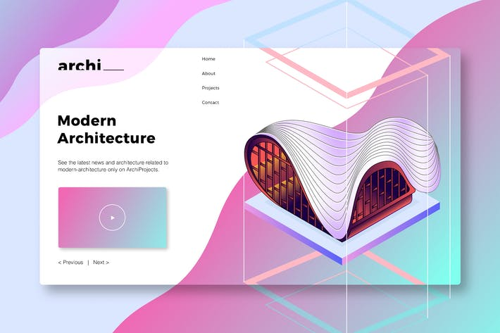 Thumbnail for Modern Architecture - Banner & Landing Page