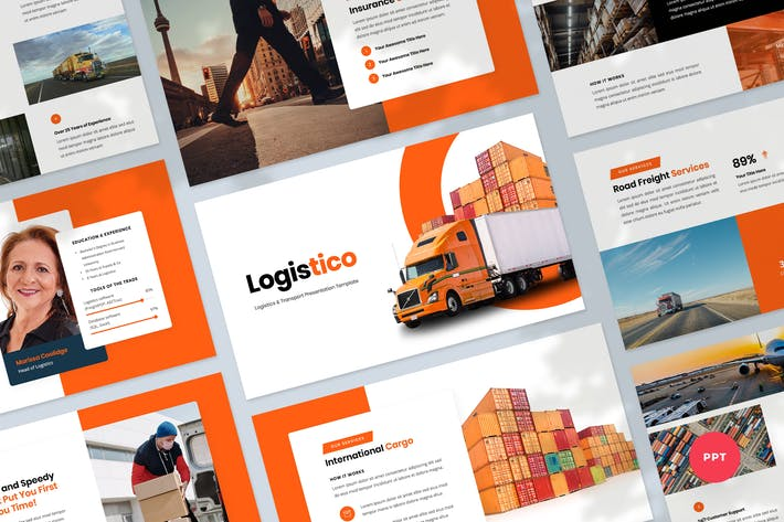 Logistics & Transport PowerPoint Template