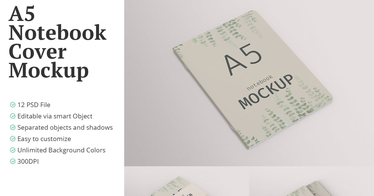 Download A5 Notebook Cover Mockup by erdp