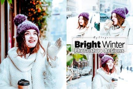 Acciones de Photoshop de invierno brillante