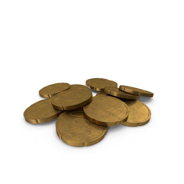 20 Цент Евро Монета Немецкий В возрасте