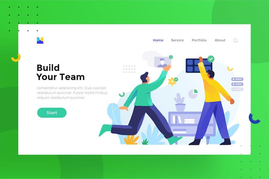 Teamwork illustration for website 1.8