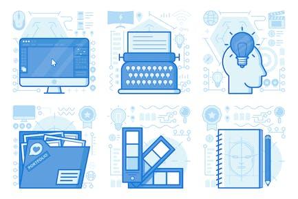 Portfolio UX Illustrationen
