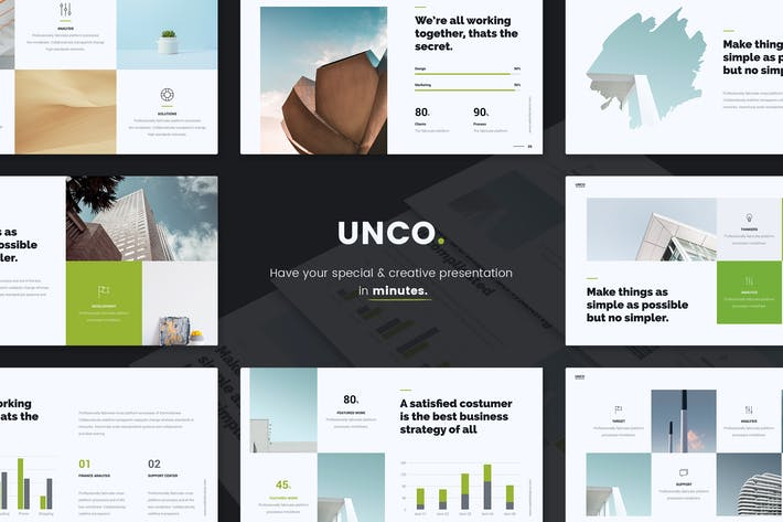 Thumbnail for UNCO - Business & Simple Template (PPTX)
