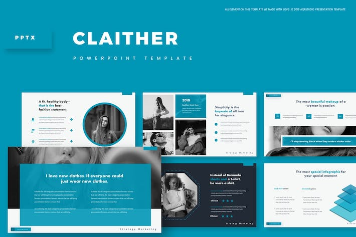 Cover Image For Claither - Powerpoint Template