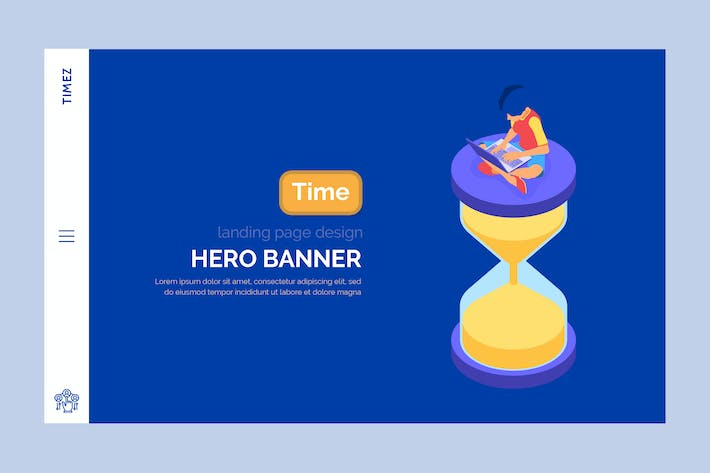 Cover Image For Timez - Hero Banner Template