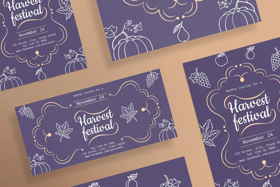 Harvest Festival Flyer and Poster Template