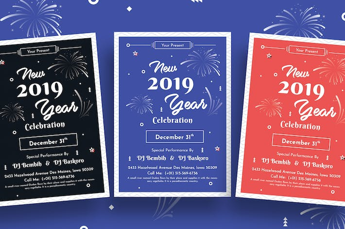Thumbnail for New Year Party Flyer-01