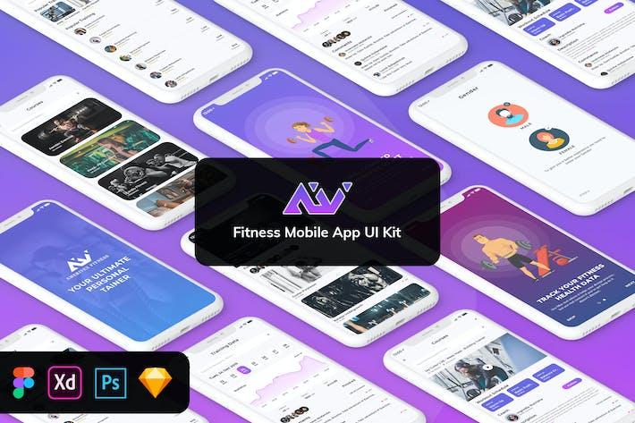 Thumbnail for AmeriVex - Fitness MobileApp Template UI Kit