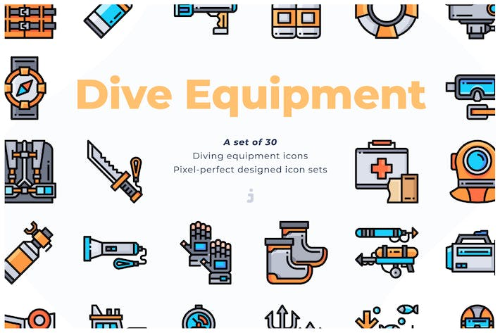 Thumbnail for 30 Diving Equipment Icons